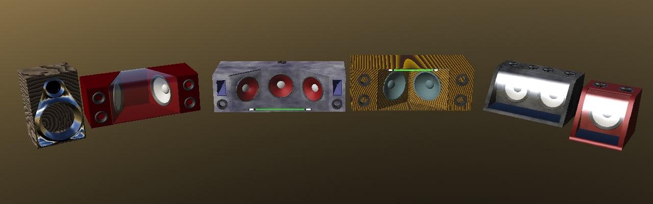 3d speakers boxes model