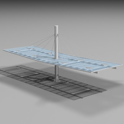 3dsmax suspended roof