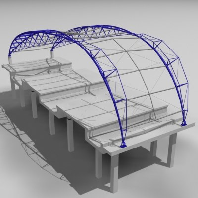3d model construction station
