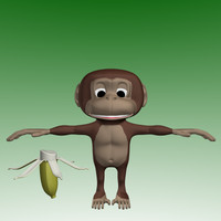 3d model cartoon monkey