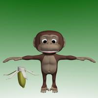 3d Monkey Cartoon
