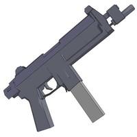 free smg gun firearm 3d model