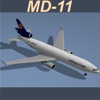 3d model md-11 f lufthansa cargo