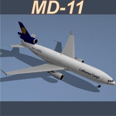 3d model md-11 f lufthansa cargo