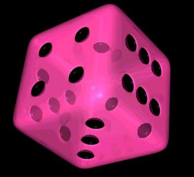 dice transparent 3d c4d