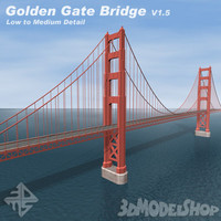 golden gate bridge v1 3d model