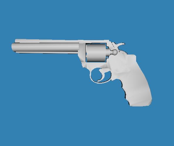 3d model revolver ms3d