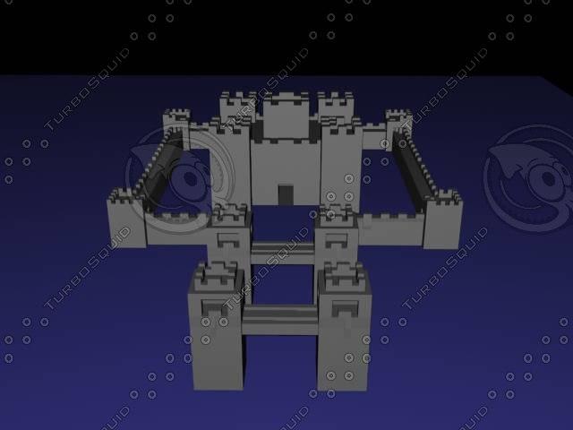 3d model castle level