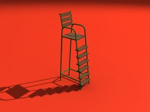 3d model of umpire chair