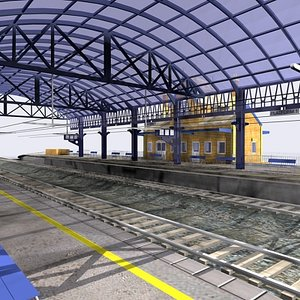 3dsmax train station