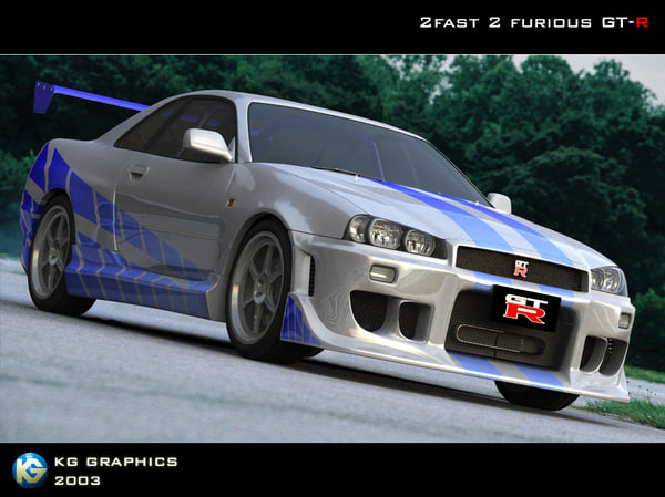 2fast 2furious nissan skyline 3d model