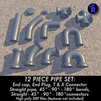 pipes connectors dxf