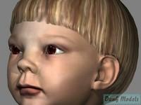 3d childrens child model
