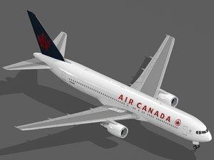 3d model b 767-300 er air canada