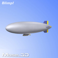 blimp airship zeppelin 3d model