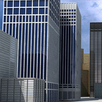 skyscrapers buildings 3d model
