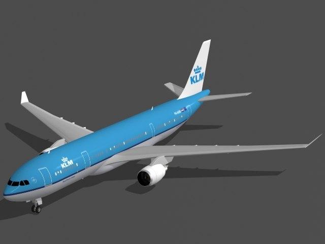 airbus a330-200 klm a330 3d model