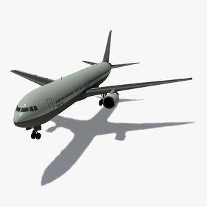 3d b 767-300 er air model