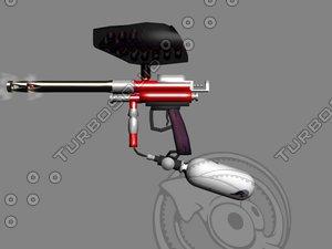 3ds max paintball gun