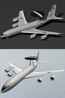 3d model e-3b sentry royal saudi