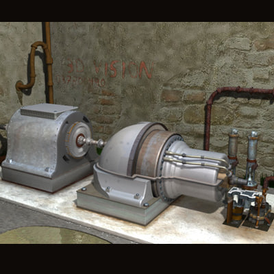 3d power turbine model