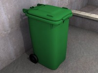 uk wheelie bin 3d model