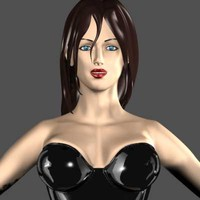 female girl 3d model