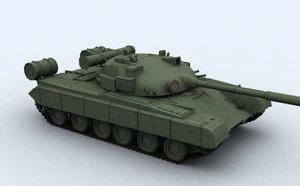 3d t-80 russian tank model