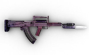 oc-14 groza bayonet 3d max