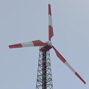 3d wind farm turbines