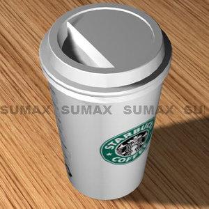 cup starbucks 3d model