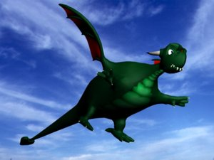 3ds max cartoonish dragon