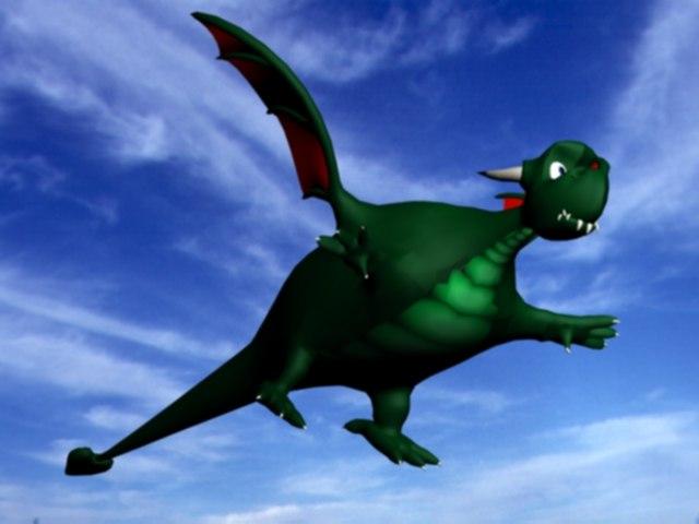 3ds max cartoonish dragon
