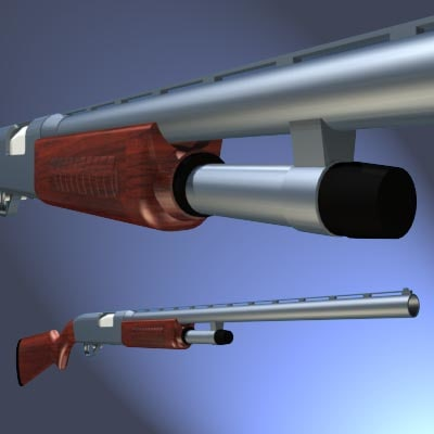 3d pump shotgun