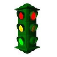 lwo stoplight traffic signal lights