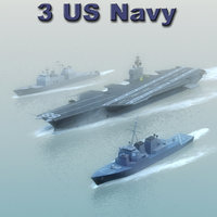 navy ships nimitz 3d model
