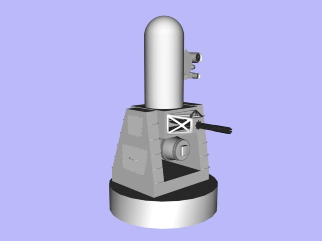 3d model close ciws