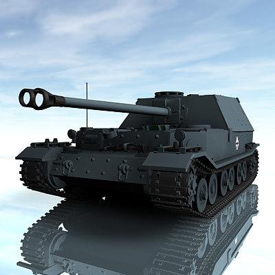 3d model german sdkfz184 elefant