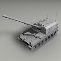 3d c4d m109a howitzer m109