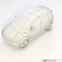 Low polygonal Car