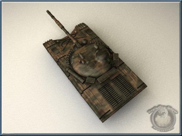 free t72 avi 3d model