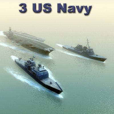 3d model navy ships
