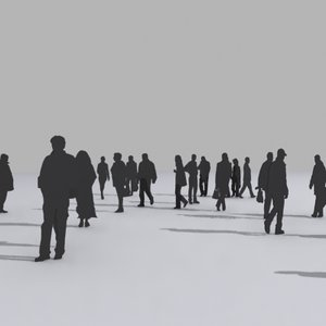 people silhouet 3d model