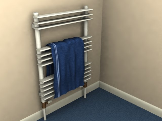 3d model of bathroom radiator