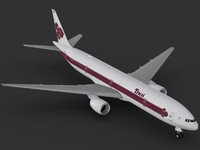 3d model b 777-300 thai airways