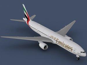 3d b 777-300 emirates