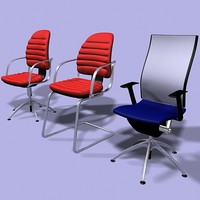 office chairs 3ds
