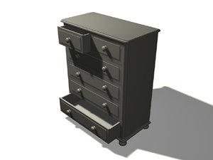 pine chest 3d model