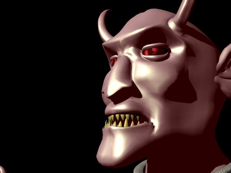 devil evil 3d model