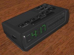 3d clock alarmclock radio model